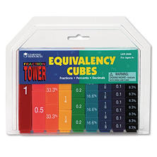 Learning Resources - Fraction Tower Activity Set, Math Manipulative -  for Grades 1-6