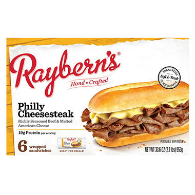 Raybern's Philly Cheesesteak - 5.6 oz. - 6 ct.
