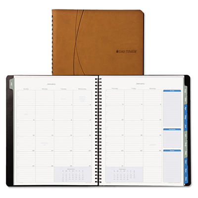 Day-Timer Essentials Monthly Planner, 8-1/2 x 11, Brown -  2015
