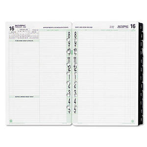 Day-Timer Dated Planner Refill - 2-Page/Day