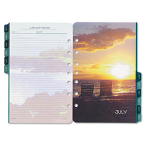 Day-Timer Planner Refill - Coastlines - 2-pg/Month