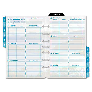Day-Timer Coastlines Dated Two-Page-per-Week Organizer Refill, 5-1/2 x 8-1/2 - 2013