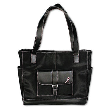 Day-Timer - Pink Ribbon Microfiber Tote - 10% Proceeds to Breast Cancer Research