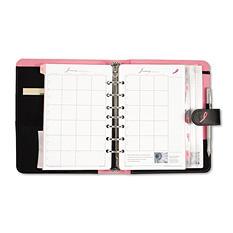Day-Timer - Pink Ribbon Organizer Starter Set w/Microfiber Binder, 5-1/2 x 8-1/2 -  Black/Pink