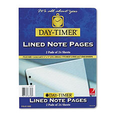 Day-Timer Lined Note Pads for Organizer, 8-1/2 x 11 -  48 Sheets/Pack