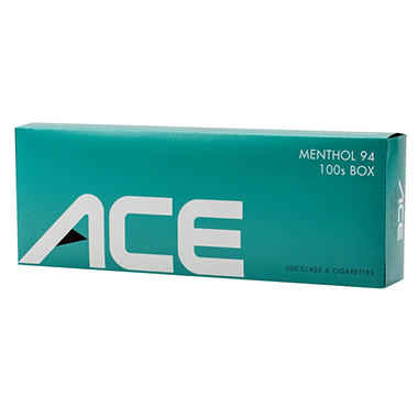 Ace Pale Green Menthol 100s Box - 200 ct.