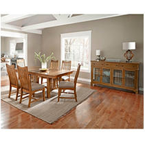 Click here for Liam 10 Piece Dining Set (Table  Server 8 Chairs) prices