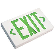 NICOR Low Profile LED Exit Sign with Automatic Low-Voltage Disconnect