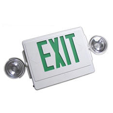NICOR Remote Capable Emergency LED Exit Sign with Dual Emergency Lights