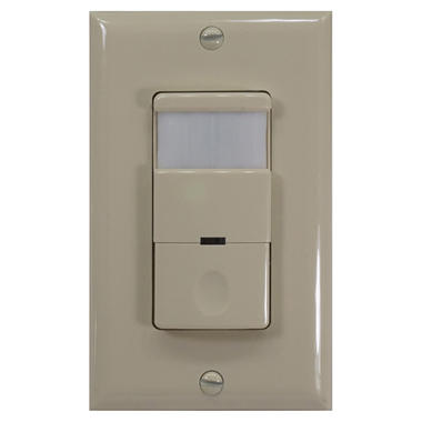 NICOR Occupancy/Vacancy Passive Infrared Motion Sensor Wall Switch with Night Light