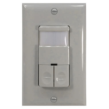NICOR Dual Relay Occupancy/Vacancy Passive Infrared Motion Sensor