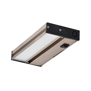 NICOR Slim Nickel Dimmable LED Under-Cabinet  NUC-3-08-NK
