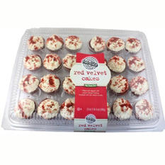two-bite Red Velvet Cupcakes -  20 oz. - 24 ct.