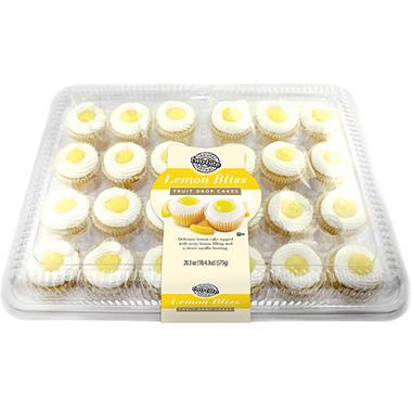 two-bite Lemon Bliss Fruit Drop Cakes - 20.3 oz. - 24 ct.
