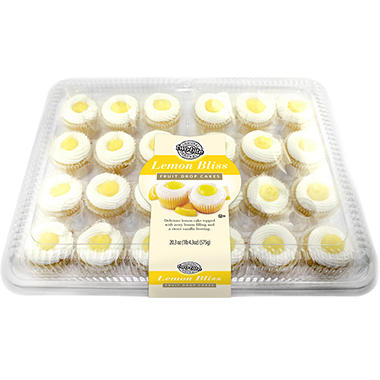 two-bite Lemon Bliss Fruit Drop Cakes - 20.3 oz. - 24 ct.