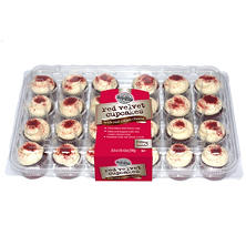Two-Bite Mini Red Velvet Cupcakes (24 ct.)