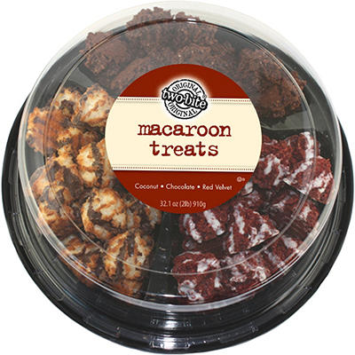 two-bite Macaroon Treats Variety Party Tray (32.1 oz.)