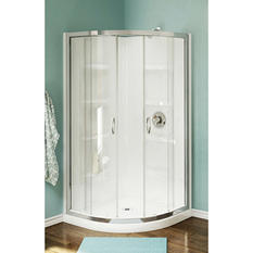 "A&E Milan 38"" Acrylic Neo Round Shower Kit"