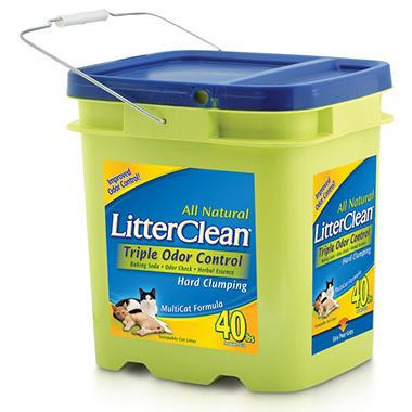 LitterClean Triple Odor Control Cat Litter - 40 lbs.