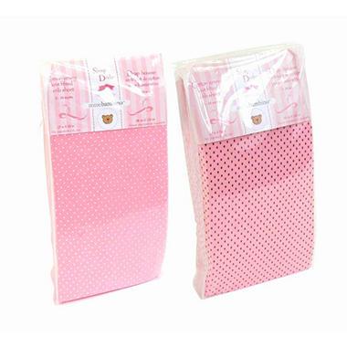 Piccolo Bambino Cotton Jersey Crib Sheets - Pink - 2 pk.