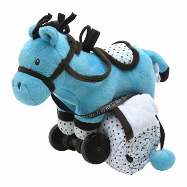 Piccolo Bambino Pull Toy with Baby Quilted Blanket - Horse