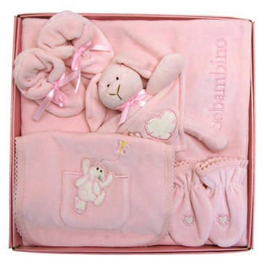 Piccolo Bambino Luxurious Velour Set, 5 pc. set - Pink