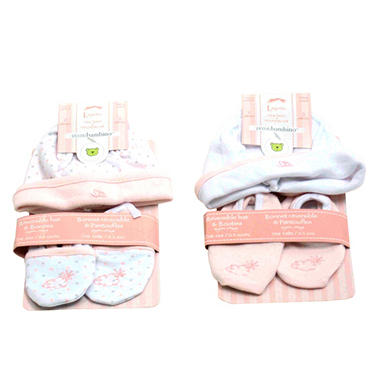 Piccolo Bambino Hat and Booties - Newborn - Pink