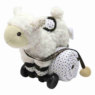 Piccolo Bambino Pull Toy with Baby Quilted Blanket - Lamb