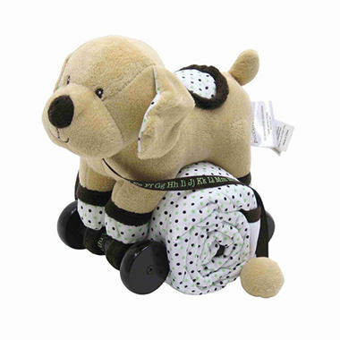 Piccolo Bambino Pull Toy with Baby Quilted Blanket - Dog