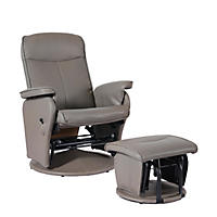 Shermag Gloria Recliner Chair, Taupe Bonded Leather