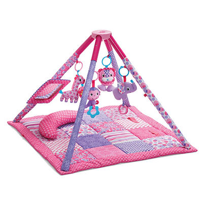 Infantino Twist & Fold Activity Gym & Play Mat, Pink