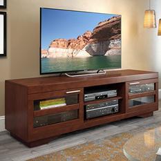 "Granville 66"" Warm Cinnamon Wood Veneer TV Bench"