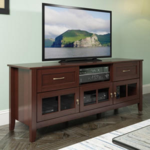 Carlisle Extra Wide Espresso TV Bench