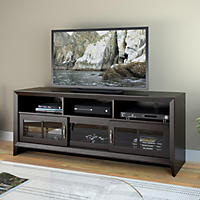 Carlisle Mocha Black TV Bench