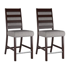 Bistro Gray Sand Fabric Dining Chairs (2 pk)