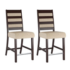 Bistro Woven Cream Fabric Dining Chairs (2 pk)