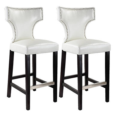 Kings Bar Height Barstool White with  DAD-819-B