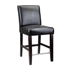 Antonio Black Bonded Leather Barstool