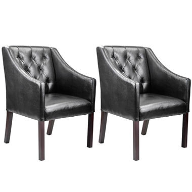 Antonio Accent Club Chair Black Bonded  LAD-608-C