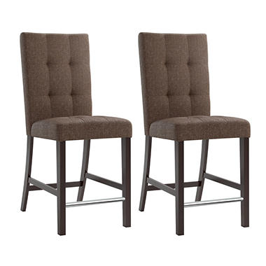 SALE Bistro Chestnut Bark Brown Fabric Dining DWP 580 C Cheap Dining Sets