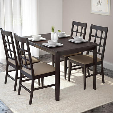 Atwood Dining Table with 4 Taupe  DRG-695-Z