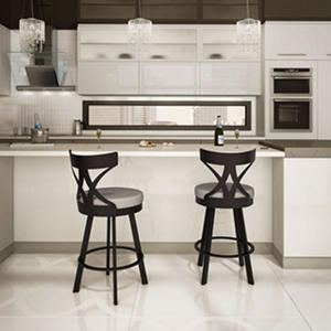 Amisco Washington Swivel Metal Stool
