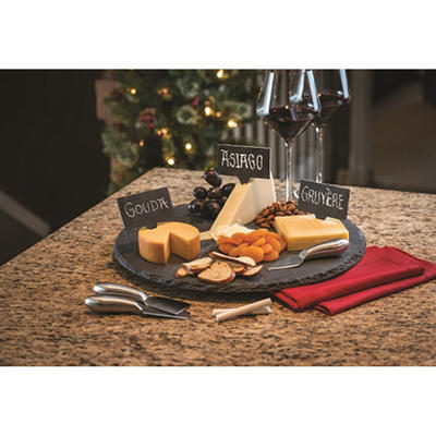 Slate Lazy Susan 9-Piece Serving Set