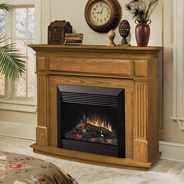 "Dimplex Fireplace w/ 26"" Electric Firebox - Oak"