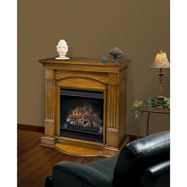 "20"" Compact Fireplace Electric Firebox - Oak"