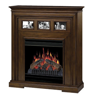 "20"" Compact Fireplace Electric Firebox - Walnut"