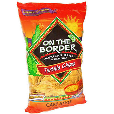 On The Border� Cafe Style Tortilla Chips - 24 oz.