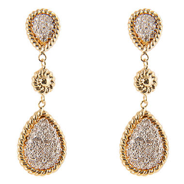 0.15 ct. t.w. Round Diamond Pear-Shaped Earrings in 14k Yellow Gold (H-I, I1)