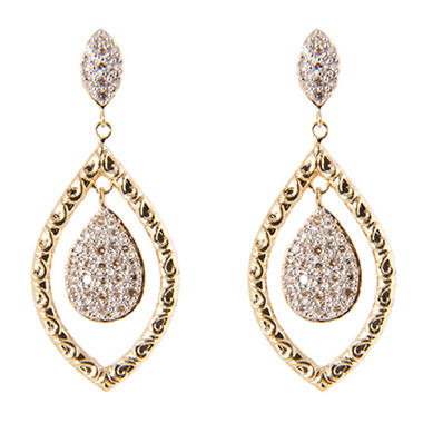 0.25 ct. t.w. Round Diamond Dangle Earrings in 14k Yellow Gold (H-I, I1)