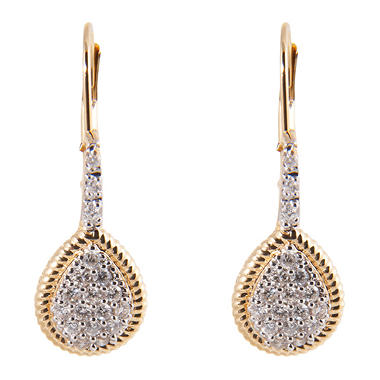 0.33 ct. t.w. Round Diamond Pear-Shaped Earrings in 14k Yellow Gold (H-I, I1)